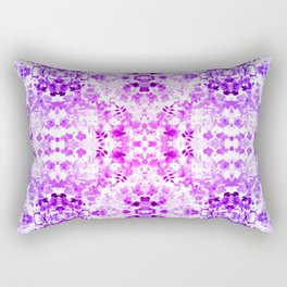 Floral Print - Magenta & Purple Rectangular Pillow