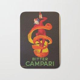 Vintage Orange-Green Motif Bitter Campari Aperitif Advertisement Print Poster Bath Mat