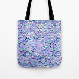Marble Mosaic in Amethyst and Lapis Lazuli Tote Bag