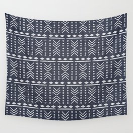 Denim Mudcloth Wall Tapestry