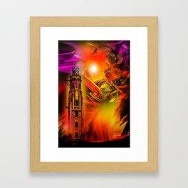 Lighthouse romance Framed Art Print