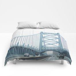 The Ben Franklin Bridge Comforters