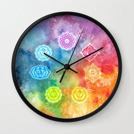 Chakras Wall Clock