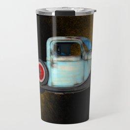 Blue Vintage American Pickup Truck Travel Mug