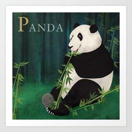 ABC Poster P - Panda Art Print