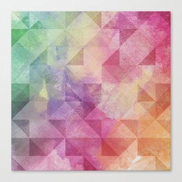 Triangles Pattern Canvas Print