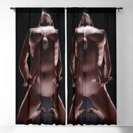 8604-LP Powerful Woman on Knees Fine Art Nude Goddess Creator Nurture Life Blackout Curtain