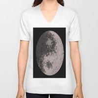 ying yang V-neck T-shirts featuring Ying Yang by Meg Gerena