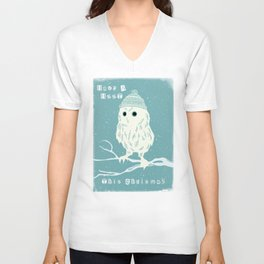 Have A Hoot This Christmas Unisex V-Neck