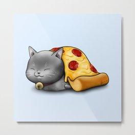 Purrpurroni Pizza Metal Print