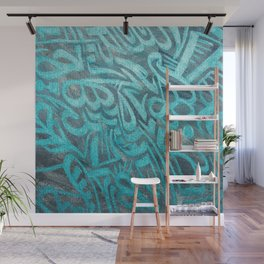 blue Rapping Wall Mural