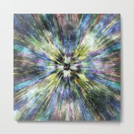 Colorful Watercolor Tie Dye Metal Print