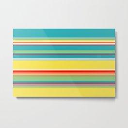 Color Stripes 2 Metal Print