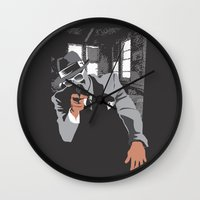 gangster Wall Clocks featuring The Gangster by Dulevartiano