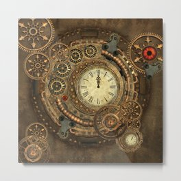 Steampunk, clockwork Metal Print