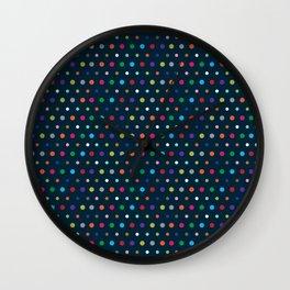 Color Polka Wall Clock