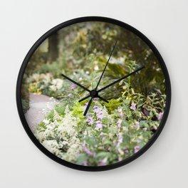 The Garden Path Wall Clock