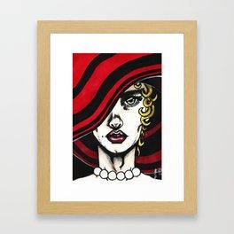 Red Pearls #1 Framed Art Print