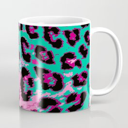 Hot Pink and Aqua Leopard Spots Coffee Mug