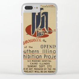 Vintage poster - Southern Illinois Exhibition Project Clear iPhone Case