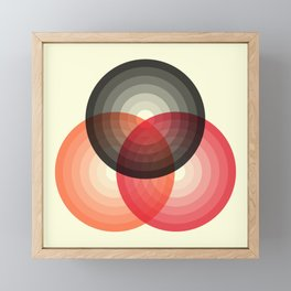 Three colour circles, inspired by Lacouture's Répertoire chromatique Framed Mini Art Print