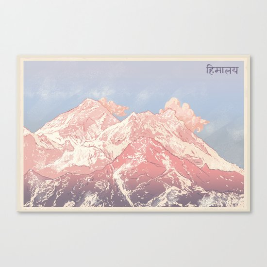 Greetings from the Himalayas Canvas Print