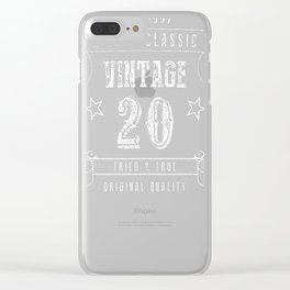 20th-Birthday-Gift---A-True-Classic-Vintage Clear iPhone Case