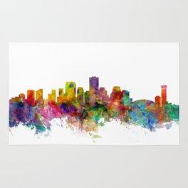 New Orleans Louisiana Skyline Rug