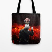 football Tote Bags featuring Football by Cs025