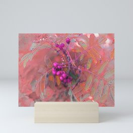 Autumn berries Mini Art Print