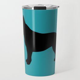 French Bulldog (Black/Teal) Travel Mug