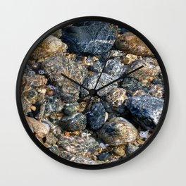 Sea of Pebbles Wall Clock