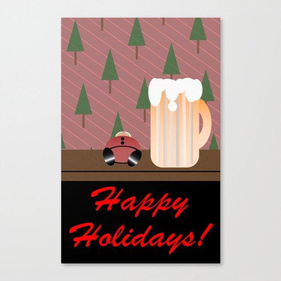 Drunken Holidays! Canvas Print