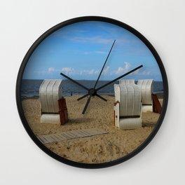 Beach Life in Autumn Wall Clock