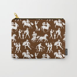 Greek Figures // Brown Carry-All Pouch