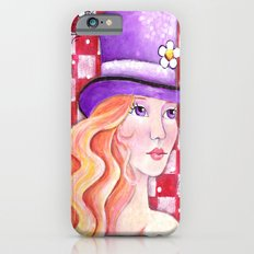 Whimiscal Girl with Purple Hat iPhone 6s Slim Case