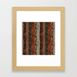 Geometric African Pattern Framed Art Print