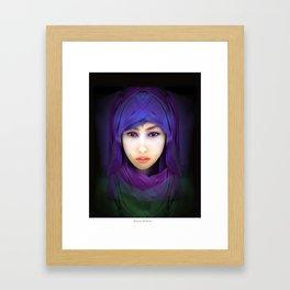 Model Portrait Framed Art Print