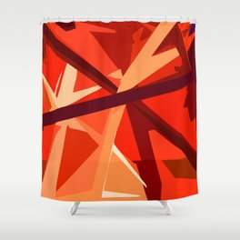 Red Fuel and Refuel Shower Curtain