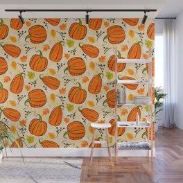 Pumpkins pattern I Wall Mural