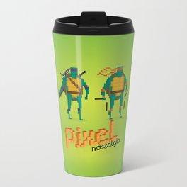 Ninja Turtles - Pixel Nostalgia Metal Travel Mug