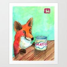 Mmmm.... Mayo. Art Print