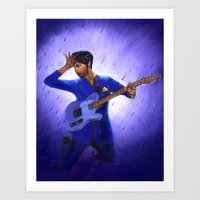 prince Art Prints featuring Prince by Jeffrey Melo