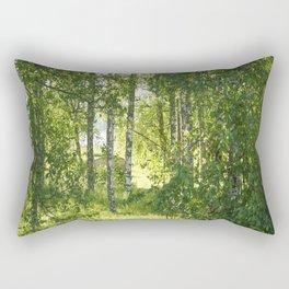 Beautiful Morning Summer Greenery #decor #society6 #buyart Rectangular Pillow