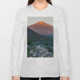 Mt. Rinjani at Sunrise Long Sleeve T-shirt