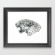 Panther roar sketch Framed Art Print