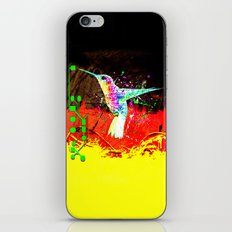 digital hummingbird & (germany Flag) iPhone & iPod Skin