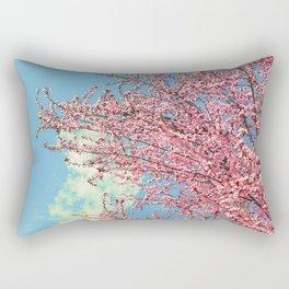 Spring pink flowers. Vintage Rectangular Pillow