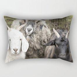 Three Goats Rectangular Pillow
