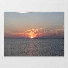 Meet Me At The Beach Canvas Print